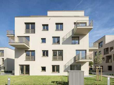 Neubau: Lichtdurchflutete 3-Zimmer-Gartenwohnung mit moderner Einbauküche