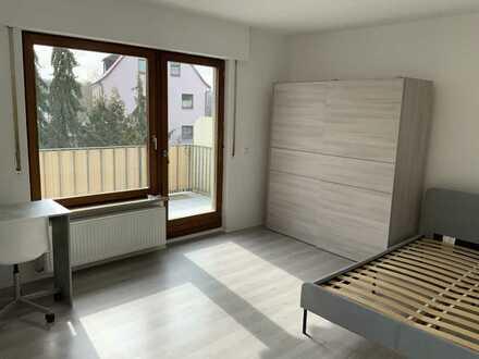 Schöne möblierte Zimmer, Balkon,Garten in Zuffenhausen bei Porsche!