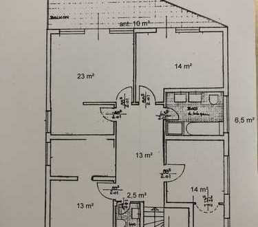 Erstbezug nach Sanierung mit Balkon: exklusive 4-Zimmer-Wohnung in Obertshausen