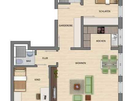 Großzügige 3-Zimmer Wohnung mit sonnigem Balkon!
