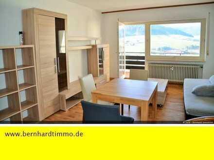 1-Zimmer-Appartment mit Balkon und Panoramablick