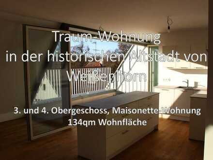 Traumhafte drei Zimmer Maisonette-Wohnung in der Altstadt von Weißenhorn