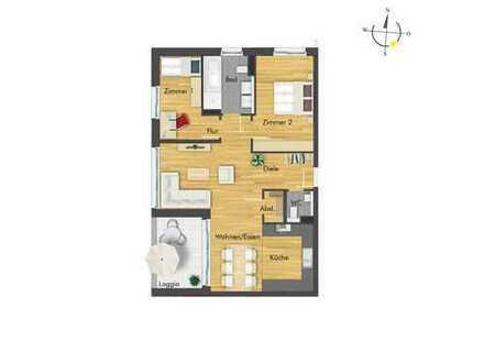 Stilvolle 3-Zimmer-Wohnung mit geräumigem Wohnbereich