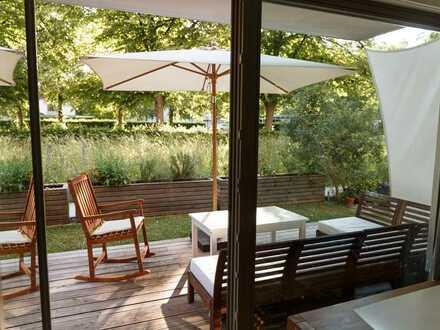 Idyllische & neuwertige Gartenwohnung in Top-Lage (gegenüb. Kreativ-Areal Balan-Campus & Neue Balan)