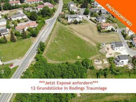 ***Jetzt Exposé anfordern: 12 Grundstücke in Rodings Traumlage***