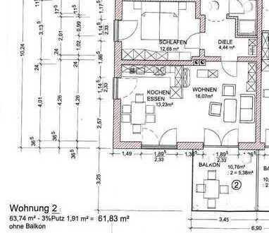 Moderne 2,5 Wohnung mit Balkon - linke Seite - Kapitalanlage oder Selbstbezug - Von Ihrem Immobil...