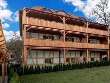 Erstbezug am Waldrand mit 16m² Balkon + Parkett + Fußbodenheizung + 30m² Wohnzimmer + tolles Bad