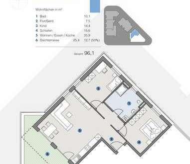 2. OG; Lichtdurchflutete Wohnung mit Aussicht - T5 Wohnareal- fortschrittlich, nachhaltig, innovativ