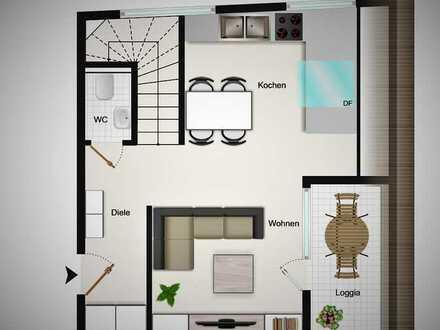 Geräumige 63 m² Maisonette-Wohnung mit hohem Qualitätsstandard als gut vermietete Kapitalanlage