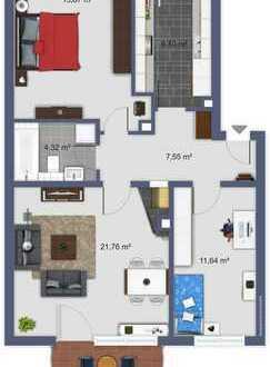 Leben in den Quadraten in Uni-Nähe: 3 Zimmer + 2 Balkone