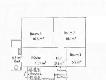 2,5 Zi-Wohnung, neu renoviert mit Bahnanschluss