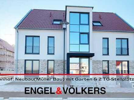 Fronhof: Neubauwohnung(Müller Bau) mit Garten und 2 TG-Stellplätzen!