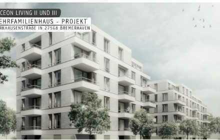 Top moderne 2 Zimmer-Wohnung mit EBK, FBH & Balkon am neuen Hafen!