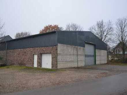 Beiheizbare Lagerhalle in Niep mit 593 m² Nutzfläche, Sektionaltor, Tür, Betonboden, WC, sep. Raum