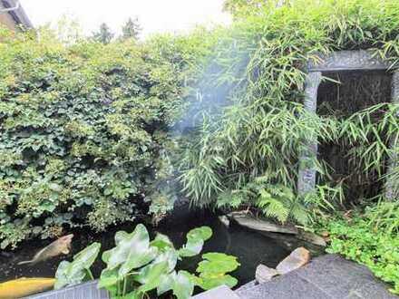 Ihre Wohnoase in FFM-Oberrad: Große, gehobene 5-Zi.-Whg. mit schönem Garten, Balkon und ELW
