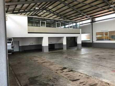Gewerbehalle mit Freifläche in bester Lage an der B300
