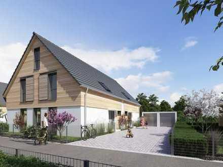 Neubau einer modernen Doppelhaushälfte in familienidyllischer, ruhiger Wohnlage in Donaustauf