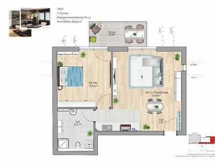 Traumhafte 2-Zimmer-City-Wohnung mit Balkon KfW 55 !!!!