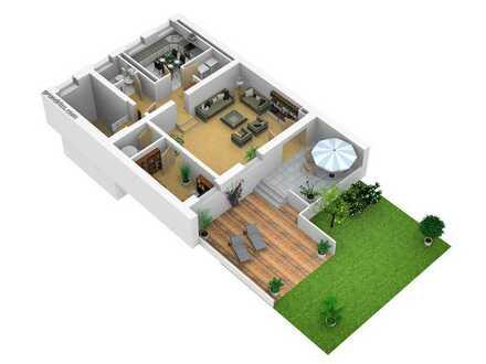 TOP Lage Maisonette-Wohnung mit Garten und Garage