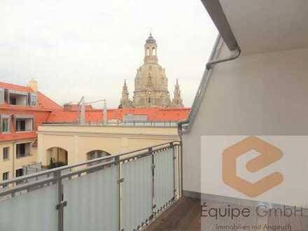 Blick auf die Dresdner Frauenkirche - hochwertig & modern im Zentrum wohnen!