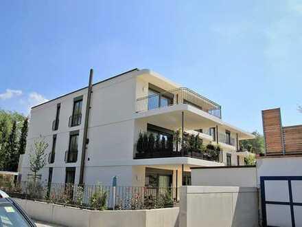 PENTHOUSE mit DACHTERRASSE - 4-Zimmer-Wohnung in Traumlage am Perlacher Forst, mit EBK, Lift und TG