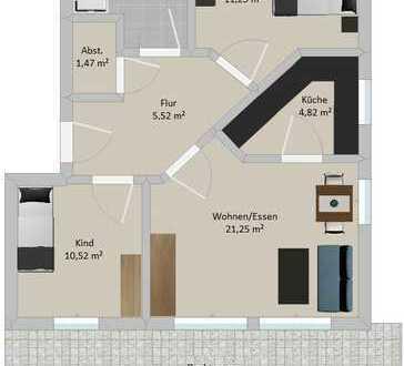 **KFW55 3-Zimmer ETW in idealer Lage zur AUDI
