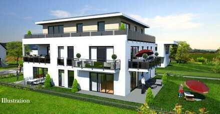 Schlüsselfertiger Neubau: 2 Zimmer Gartenwohnung mit über 89 qm großen Garten und Hobbyraum