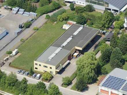 Gewerbeanwesen mit Produktionshalle und Bürofläche