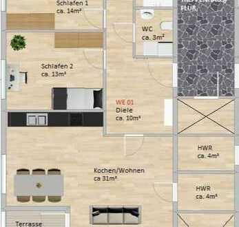 Lerchensteig Living! Neubau in Prenzlau! Vier Wohnungen für den gehobenen Anspruch!