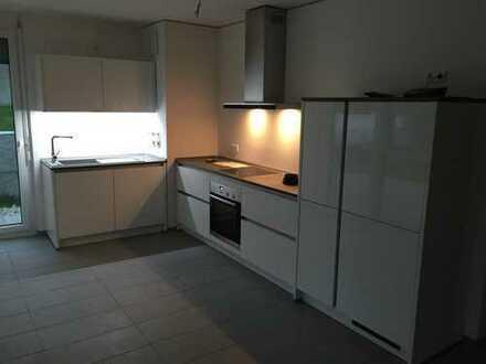 Stilvolle, neuwertige 3-Zimmer-Wohnung mit zwei Terrassen und EBK in Ettlingen-Spessart