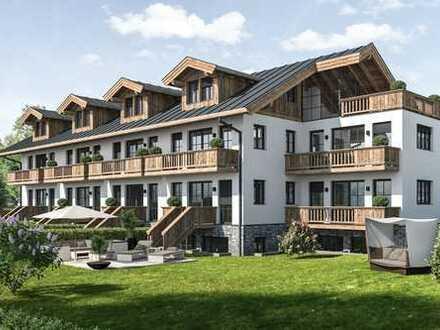 Herrlich, zentral gelegene 4 Zimmer OG + DG Wohnung, mit Garten, Balkon und unverbaubarem Bergblick