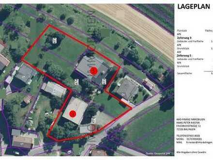 Landhausvilla mit ELW + Gewerbeimmobilie + 3.782 m² Grundstück in Hechingen-Boll
