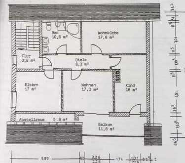 Schöne und helle 3- Zimmer Wohnung in einem 2 Familienhaus zu vermieten/ obere eigene Etage