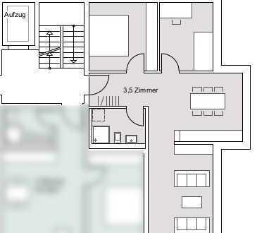 Erstbezug: exklusive 3,5-Zimmer-Wohnung mit Einbauküche und Balkon in Tübingen