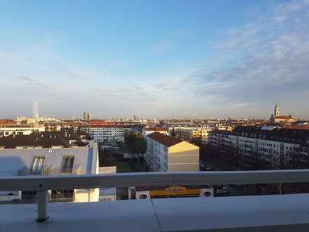 PENTHOUSE * Großzügige Wohnung im 8. OG mit Blick über München * 2 Bäder + Küche * WG möglich