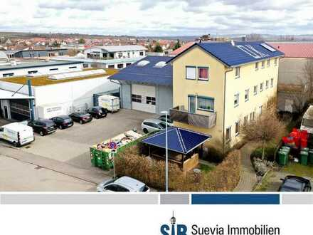 Vermietete Lager-/Produktionshalle mit EFH und Büroeinheit im Gewerbegebiet in Ingersheim
