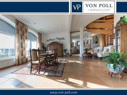 Top gepflegte Villa mit Hallenbad, Einliegerwohnung und Traumsicht
