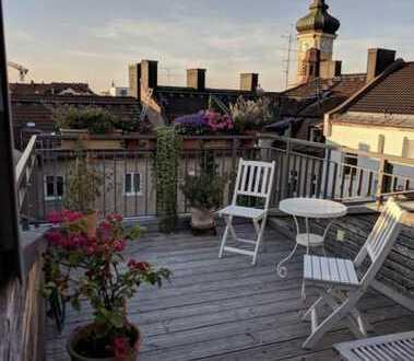 Stilvolle, individuelle 3-Zi.-DT-Wohnung über den Dächern von München-Mittersendling!