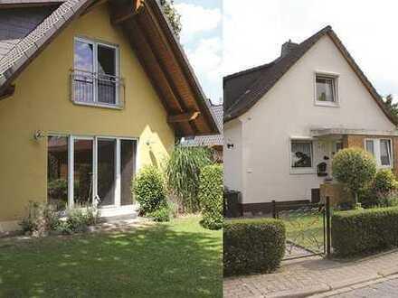 Zwei Häuser auf großem Grundstück - auch getrennt voneinander nutzbar, mit Garage und Garten