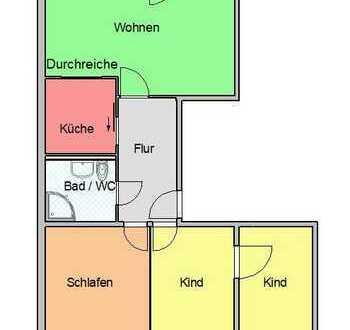 4-Raum-Wohnung mit Aufzug/Balkon/Dusche