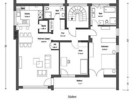 Bestlage: Erstbezug nach Sanierung, moderne 123,5m², 3-Zimmer-Wohnung mit Balkon in Altdorf b. Nbg.