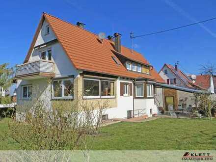 Herrliches Ein- / Zweifamilienhaus, idyllisch am Fuß der Alb gelegen mit sonnenverwöhnter Terrasse