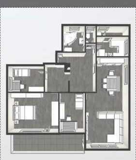 Modernisierte 4,5-Zimmer-Erdgeschosswohnung mit Balkon und Einbauküche in Ostfildern