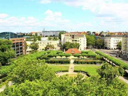 unverbaubar weiter Blick  und sonniger 5,5m x 10m  Süd-Dachterrassen-Garten :  Mierendorffplatz