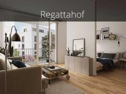1-Zimmer-Apartment zum Erstbezug oder als Kapitalanlage! Top Grundriss, Wasserlage & provisionsfrei