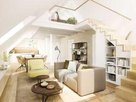 Neubau einer schicken 2-Zimmer-Dachgeschosswohnung in der Münchner Lerchenau
