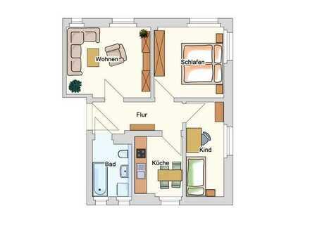 Alte Reichenbacher Str. 14, 1.OG rechts --- 3-Raum-Wohnung mit Tageslichtbad und Wanne
