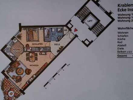 Erschwingliche und gepflegte Wohnung mit zweieinhalb Zimmern und Balkon in Essen