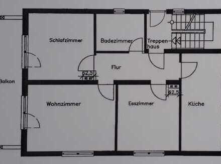 Overath-Zentrum - Frisch sanierte (Böden, Wände, Elektrik...) 3-Zimmer-Wohnung (mit Garten)