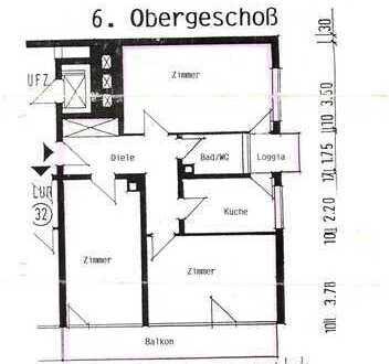 3 Zimmer Karlsruhe Oststadt provisionsfrei -Balkon + Loggia- Einbauküche- Vollständig renoviert